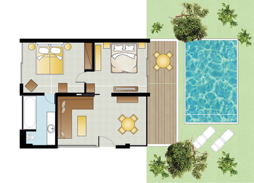Deluxe Family Villa Private Pool floorplan