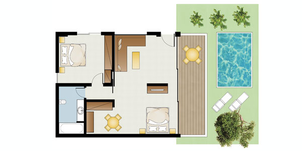 Dream Villa Private Pool floorplan