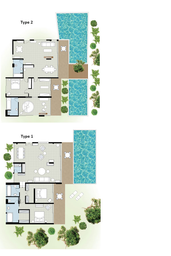 Pine Hill Villa floorplan