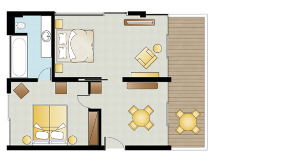 Deluxe Family Suite floorplan