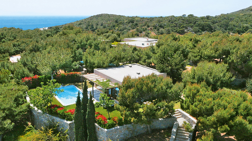 pine hill villa cape sounio panoramic view