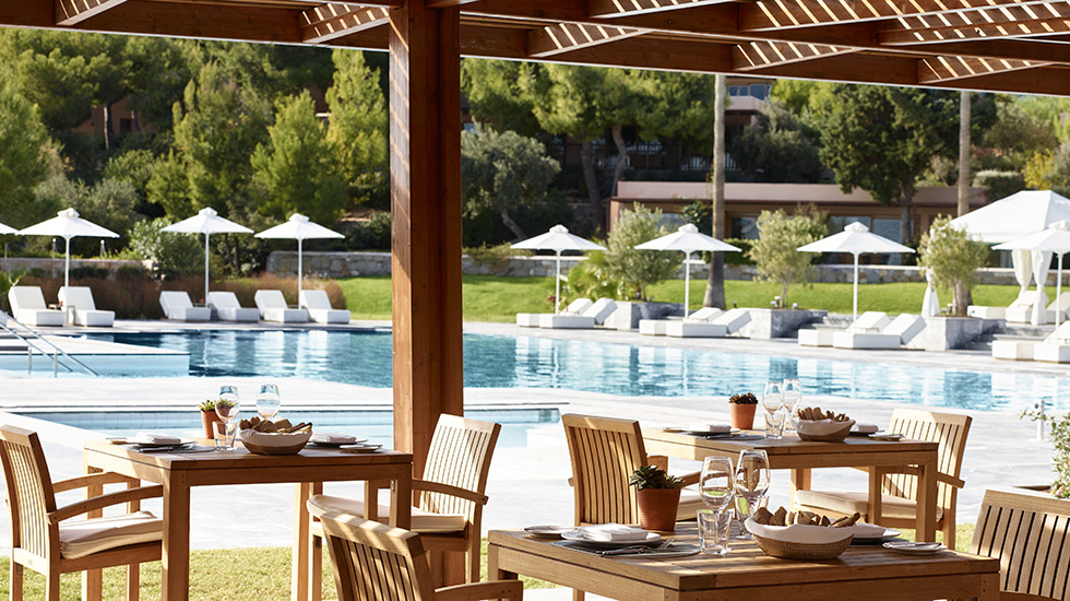 aegean grill poolside restaurant and bar in cape sounio