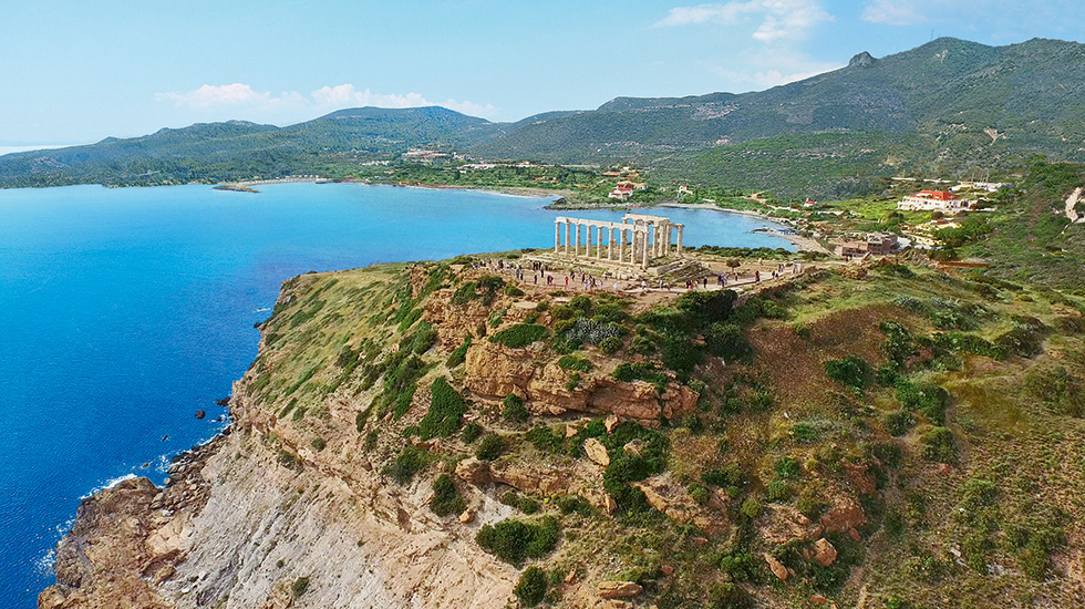 gorgeous temple of poseidon